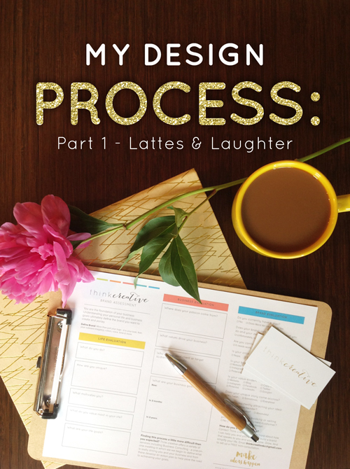 My Design Process: Part 1 - Lattes & Laughter