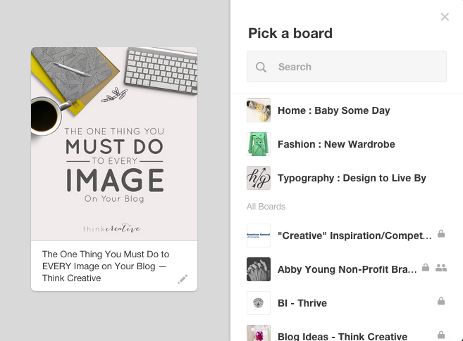 Naming your file image will auto populate in Pinterest Pins