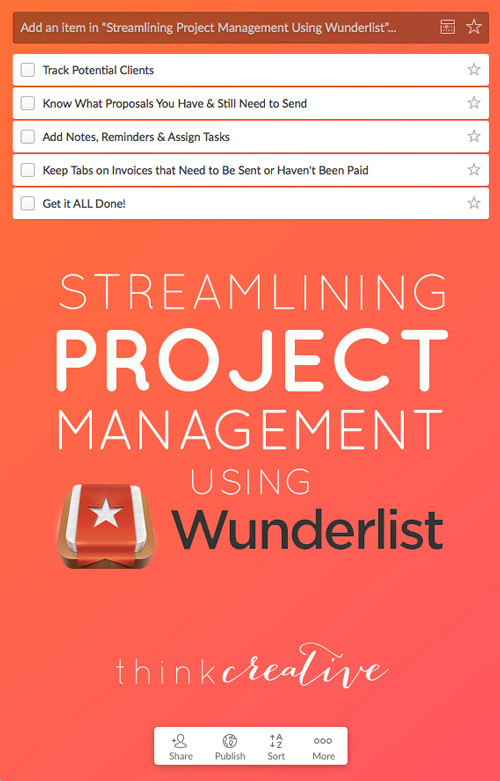 Streamlining Project Management Using Wunderlist