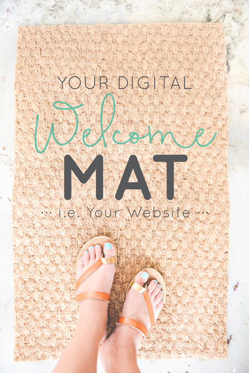Your Digital Welcome Mat - i.e. Your Website  |  Think Creative