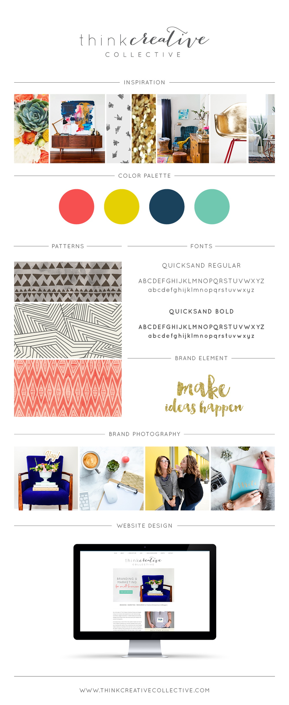 Think Creative Collective Style Board Design by Abagail Pumphrey & Emylee Williams