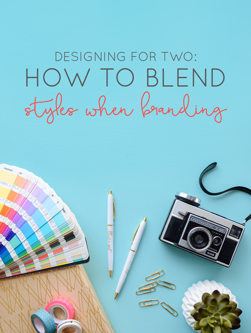 Our branding process and a look into meshing two distinct styles into one brand.  |  Designing for Two: How to Blend Styles When Branding  |  Think Creative Collective