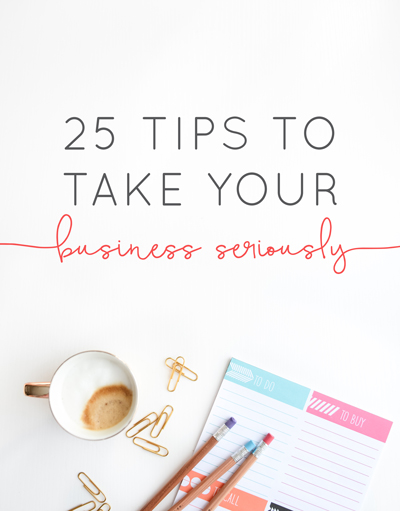 If you're still struggling to feel legit or awkward about charging what you're worth maybe it's because you still aren't taking your business seriously. Here are 25 of our best tips to put your most legit foot forward in business. | Think Creative Collective