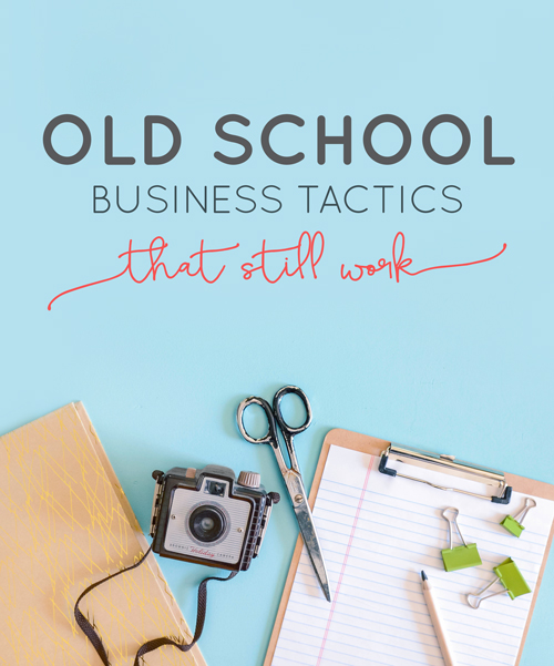 "As the creative and small business ownership world changes we sometimes feel like we're constantly chasing the ""next best thing"" that will work. We get fooled into thinking that there's a magic ""something"" out there that's going to be the key to success. Let's get back to the old school basics. 