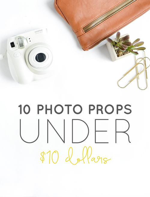 10 Photo Props for under $10 | Think Creative Collective