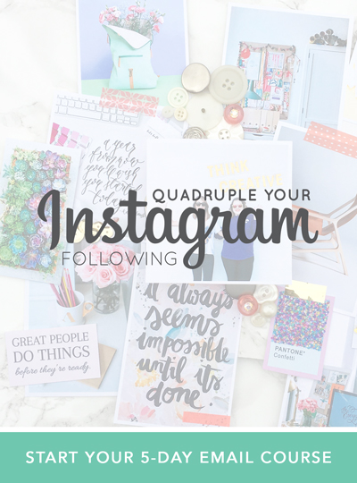 Quadruple your instagram following. Find your style, build engagement and grow an audience of raving fans.  |  Think Creative Collective