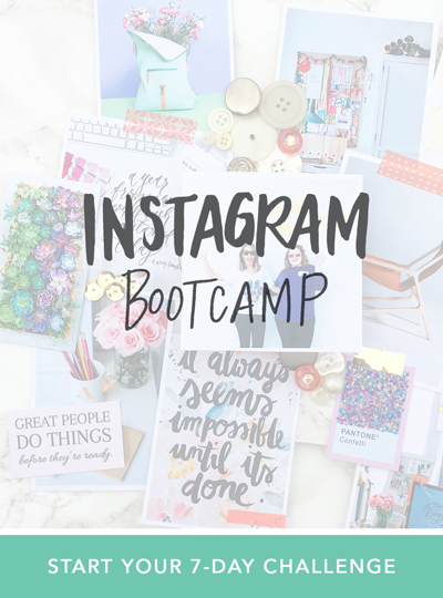 Join the Instagram Bootcamp Challenge! Find your style, build engagement and grow an audience of raving fans.  |  Think Creative Collective