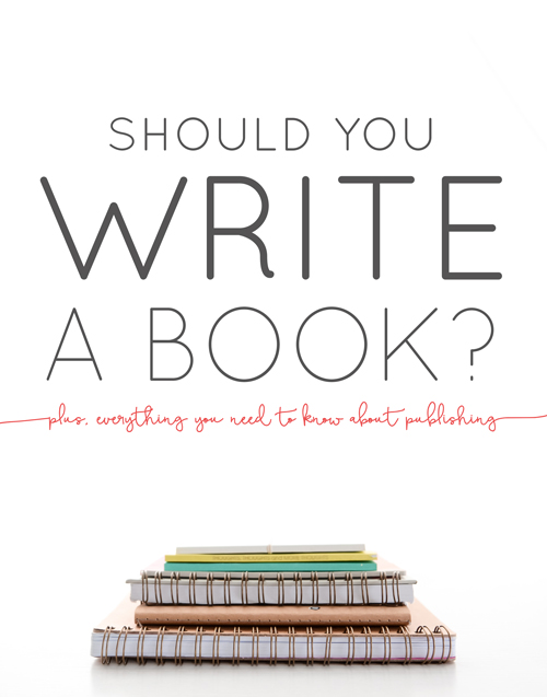What you need to write a book