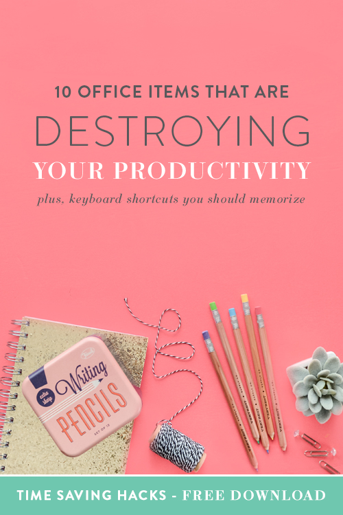 "Emylee here. As self-dubbed ""masters of productivity"" we know a thing or two about what's helping you stay on track and what's steering you off course. Some of these things are simple and some might downright surprise you, but chances are you have at least one of these items in your office that's straight up destroying your productivity. So it's time to face the music and cut it out. 
