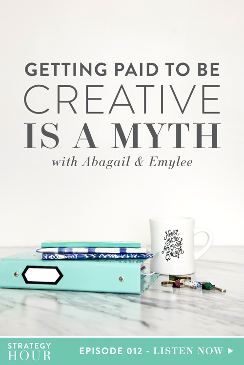 Getting paid to be creative is a myth. Lately, we've heard this phrase being tossed around a lot. Heck, we've even used this exact phrase to describe our journey ourselves. But the phrase isn't really accurate.    We aren't getting paid to be creative. We're getting paid because we are intellectual businesswomen. We take our business seriously and structure it to pay us. We are constantly strategizing new ways to bring in income and grow our business. We test new ways to market, make new sales processes, and offer new things in new ways. And we do it over and over again. So if you want to hear us bust the myth, then this episode is definitely for you!