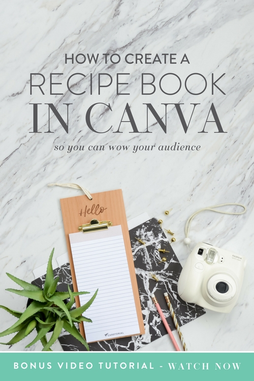 Calling all health nuts, fitness enthusiasts, whole-foods lovers, beach body badasses and any and all recipe creators!   Are you wondering if and how you can use Canva to create stunning recipes for your peeps?  |  Think Creative Collective