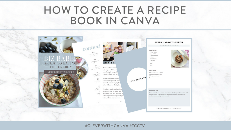 how to create a recipe book in canva think creative collective