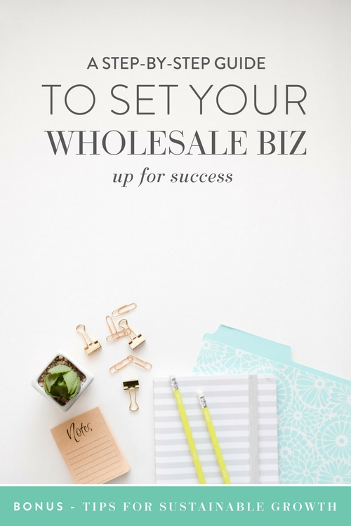 It's no secret that wholesale has my heart. While there is a LOT of work involved, one of the many reasons I love wholesale is that it has the ability to substantially grow your business!   That said, how do you go from dreaming of big sales to seeing your product on the shelves of your favorite store when a Google search is enough to make your head spin?! Well, m'dear, it's time to get excited because I'm giving you a step by step guide to setting your wholesale biz up for success!   |  Think Creative Collective