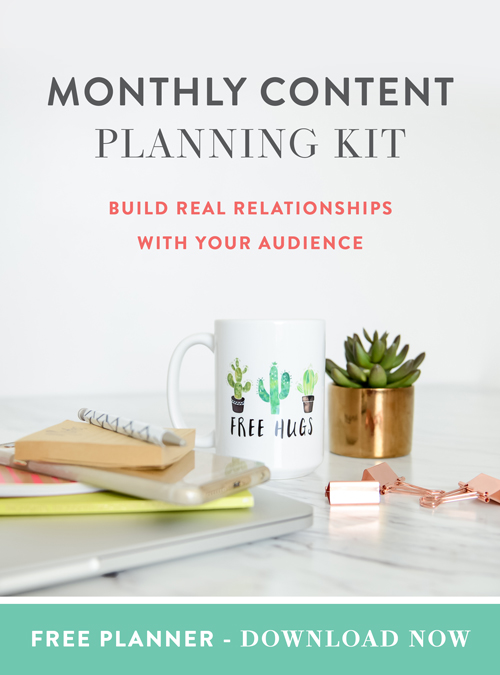Monthly Content Planning Kit - Download Now