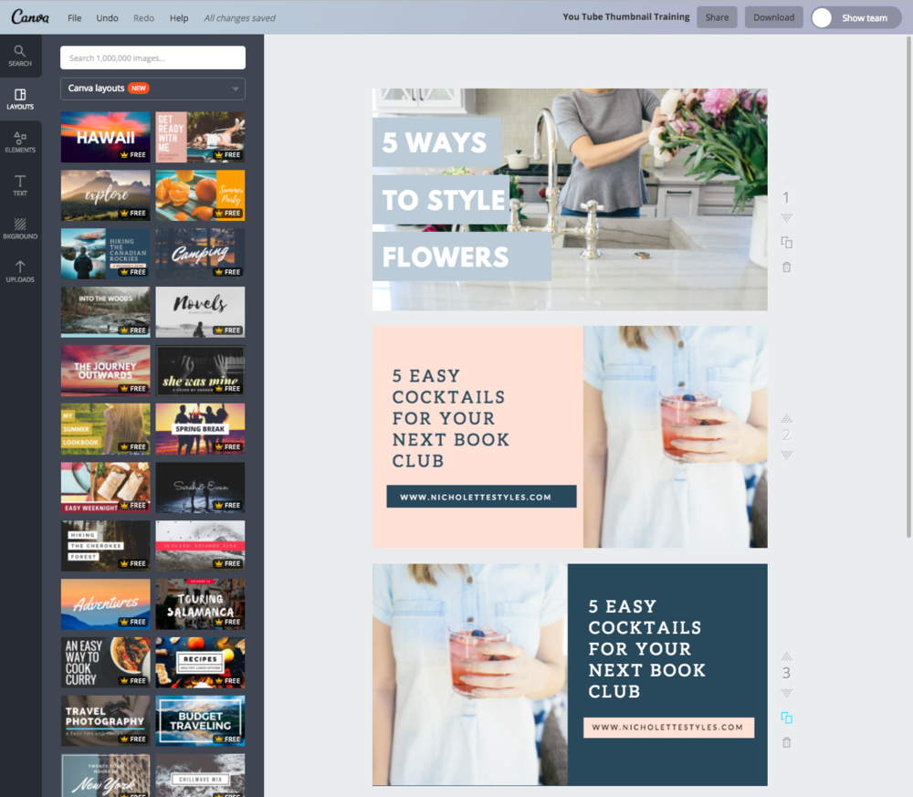 How To Create Your Own Custom Youtube Thumbnails In Canva Think