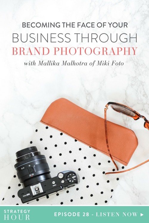 Have you been aiming to become the face of your business, but just not sure how exactly to do it? Well, you are in luck! In this episode we have our friend Mallika from MikiFoto with us and that is precisely what she is coming on to share with you guys today. We got to meet Mallika last year at The Savvy Experience and have loved watching as she shifted her business to do more lifestyle branded headshots and photography for small businesses and creative entrepreneurs.  |  The Strategy Hour  |  Think Creative Collective