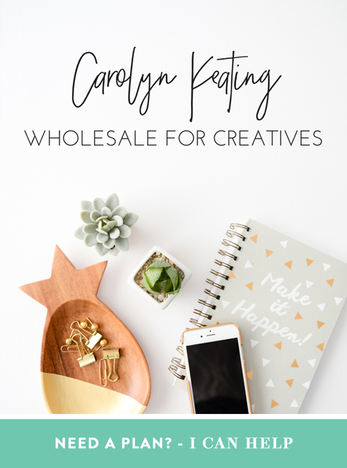 Wholesale for Creatives - Need a Plan? I can help!