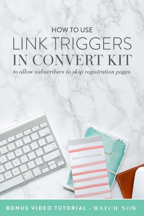 Today I want to teach you how to use link triggers in ConvertKit to make things crazy easy for already-existing subscribers. Obviously there are 1.493723 billion things you could use a link trigger for so this is just an example.  Let's say you're hosting a webinar and you want to send an email to your list telling them about it and asking them to sign up but because they're already on your list (aka, already given you their email address, name, etc) they could really skip the whole sign up page thing.  |  Think Creative Collective