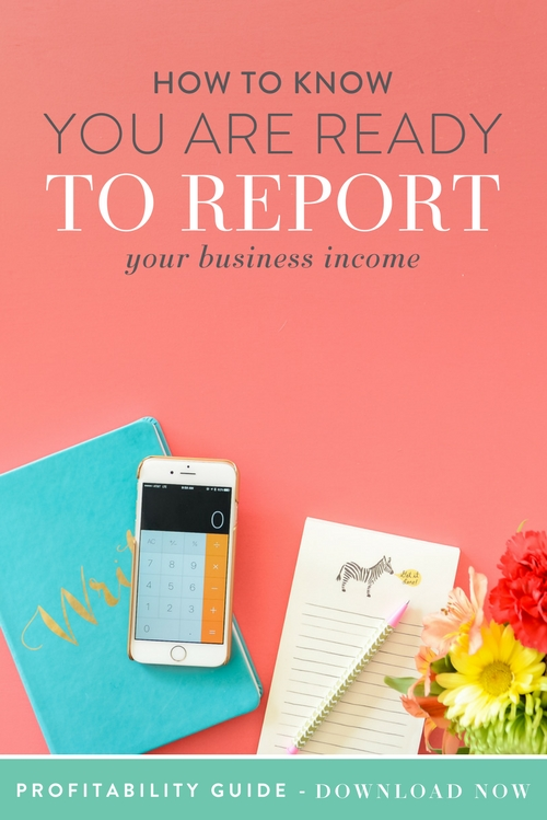 One of the questions we get asked all the time (and one that was heavy on our minds when we first started) is how do you know when you should start reporting your business income? Well, since we're big believers in treating your business like a business we wanted to bring Amy Northard, the accountant for creatives, on to explain all about reporting your business income!  |  Think Creative Collective