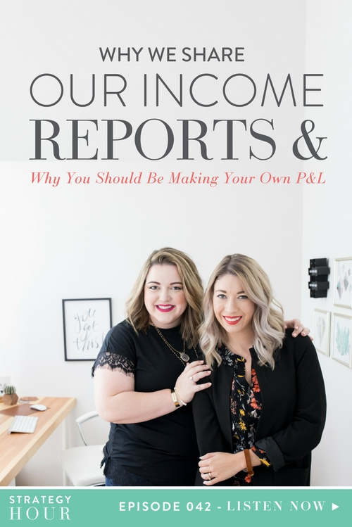 On today's episode, we are super pumped to talk to you about why we share our income reports. In the interests of being transparent, we have decided to walk through the process and the reasons behind it. So in case you guys didn't know, we have two income reports floating around the blogosphere right now, showing you exactly how much money we make. Now, we are not saying you should just be flashing dollar bills around — that's not what we're doing here. However, when we saw that our income reports showcased how we made our money and where it actually comes from, we realized that it could be super a valuable and helpful tool for you guys.  |  The Strategy Hour  |  Think Creative Collective