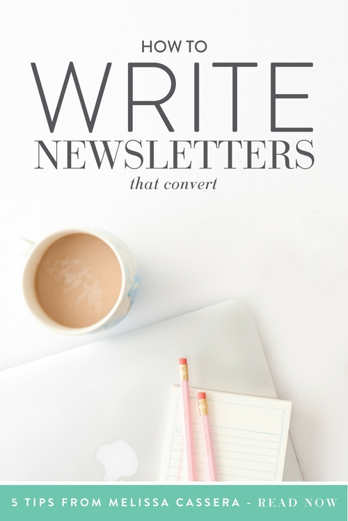 what to write in a newsletter