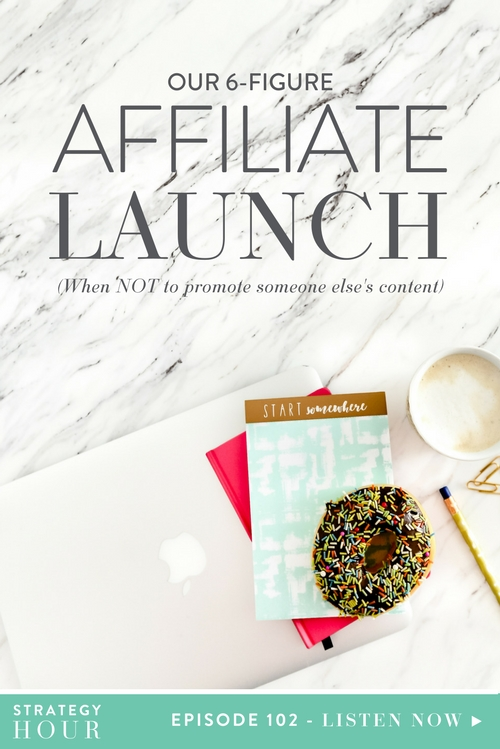 Boss babes, you are in for a treat today. We are doing what we normally do after a launch. We are giving you all the nitty gritty details you won't hear anywhere else. You are going to hear about ad spend, what we did, what we didn't do, how much we made, and all of what happened in our most recent launch, which happens to be an affiliate launch for someone else's course (not even our own program), that we just wrapped up in July 2017. If you have no clue what we're talking about, go back to some of our older podcasts and give them a listen.  |  The Strategy Hour  |  Think Creative Collective