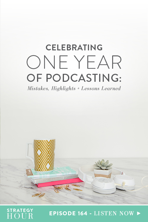 OMG! We made it a whole year of podcasting and we didn't fall off the bandwagon, guys! Yep, we're officially addicted and this podcast isn't going anywhere. Today in this celebratory episode, we are going to go break down what has happened over the last year of the TSH podcast – the amazing guests we've had on, great moments, epic fails and all the juicy things you do, or don't know, about the making of this podcast.  |  The Strategy Hour  |  Think Creative Collective