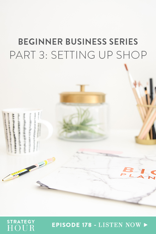 We're back for part three of the Beginner Business Series! First off, the response has been great and we just want to thank you for your comments on Facebook and Instagram – we love hearing from you! Keep using the hashtag #bbs. It helps us keep track of your questions, concerns, comments and feedback. If you're just joining us now and don't know what the hell this is, we'd advise you pause right now and go back to part one and part two and then dive into this one. So, let's go!  |  The Strategy Hour  |  Think Creative Collective
