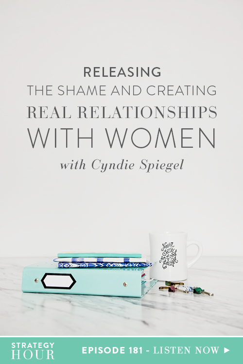 Today on the podcast we are bringing back Cyndie Spiegel. Cyndie is a Brooklyn-based consultant, coach and TedX speaker. She is the founder of The Community of Us – an inclusive strategic community for women change makers, founders, creative business owners and solopreneurs. Today, we are talking about creating real relationships, what it means to have friendships and empower other women.  |  The Strategy Hour  |  Think Creative Collective
