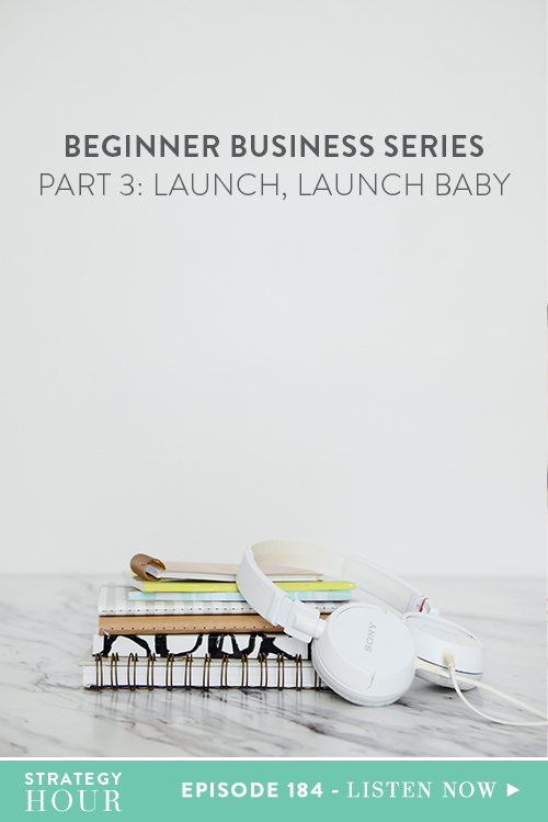 In this episode, we're addressing the stage where most people give up and why you are not going to be one of those people. So let's recap – by this point in the Beginner Business Series, you've created a product from something you are already amazing at doing. You've got it out the door and up quickly, you've validated your dreamies, you've packaged it, you've priced it, you've created a plan to market it and you've created a website landing page so that someone can pay you.  |  The Strategy Hour  | Think Creative Collective