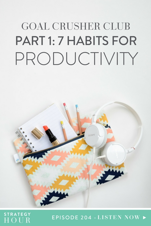 In this episode we dive into seven habits that we believe lead to a more productive life and a more productive business. These seven habits will ultimately help you achieve the goals and dreams you are seeking – whether those are personal or financial. You are one person, with multiple facets, and you can't play blind to the fact that you have a life outside of work! We want to incorporate that into living a lifestyle that gets you where you want to go. These seven habits have been monitored over time in our own business. | The Strategy Hour  |  Think Creative Collective