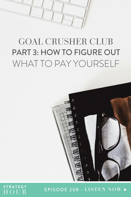 Welcome to Part Three of the Goal Crusher Club Series! Today on the podcast, we are talking about the fun side of business – getting paid! Woohoo! Getting paid should be an exciting and rewarding part of business; but who knew that it could be the cause of so much anxiety and confusion, right?  |  The Strategy Hour  |  Think Creative Collective