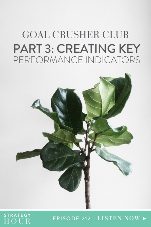 Welcome to Part 4 of the Goal Crusher Club Series! Today we are talking about one of Abbie's favorite things on the planet – creating Key Performance Indicators in your business, otherwise known as KPI's. We will be walking you through some of the things you need to be tracking on a month to month basis that will genuinely help you realize the health and wellness of your business and exactly what you need to be paying attention to.  |  The Strategy Hour  |  Think Creative Collective