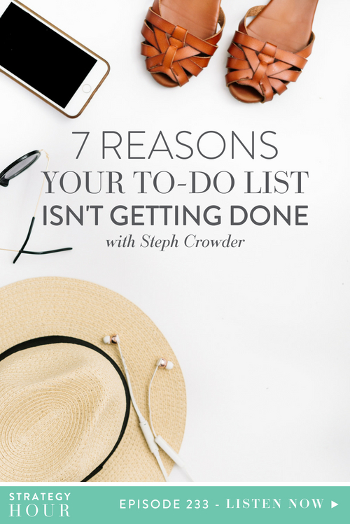 Today on the show we welcome back Steph Crowder. Steph is so awesome, that we decided she needed to become a regular! So here she is, to talk about keeping your to-do list alive once you've lost momentum in your business.  |  The Strategy Hour  |  Think Creative Collective