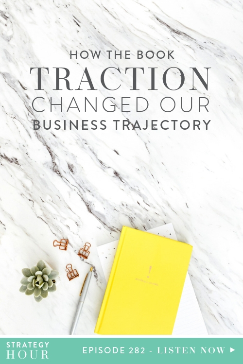 Today we will be talking about Traction by Gino Wickman and how it immediately changed our trajectory and gave us so many tools for our biz. We know you are going to love them all! We cannot say this enough, whatever stage of your business you are in, go read it!  |  The Strategy Hour  |  Think Creative Collective