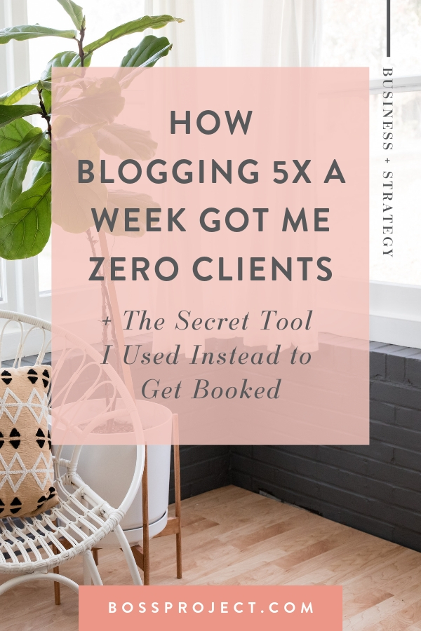 Blogging is a long game strategy - meaning it's effects are best measured months and years after a blog is posted. It can be a fantastic way to add valuable keywords to your website and to up your search rankings through the power of SEO (search engine optimization).   But here's a secret about blogs that no one is talking about. Blogs are likely not reaching your potential clients. Blogs are reaching people who want solutions to a problem (think how to type content), not people looking to hire.   |  Boss Project