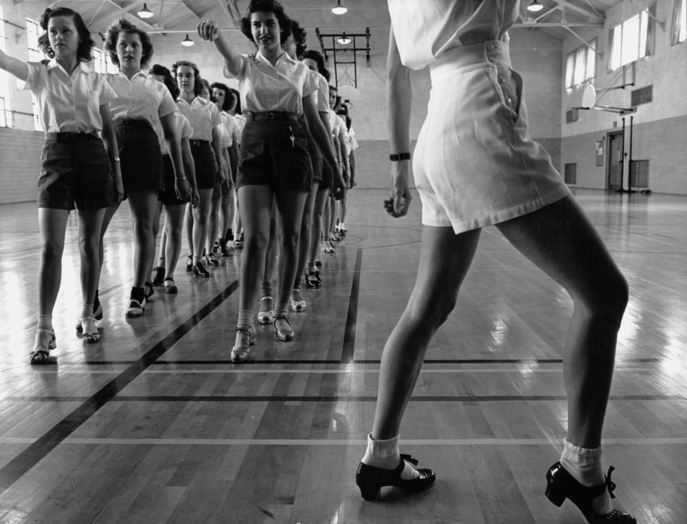 Tap Dancing Class at Iowa State College, 1942 By Jack Delano