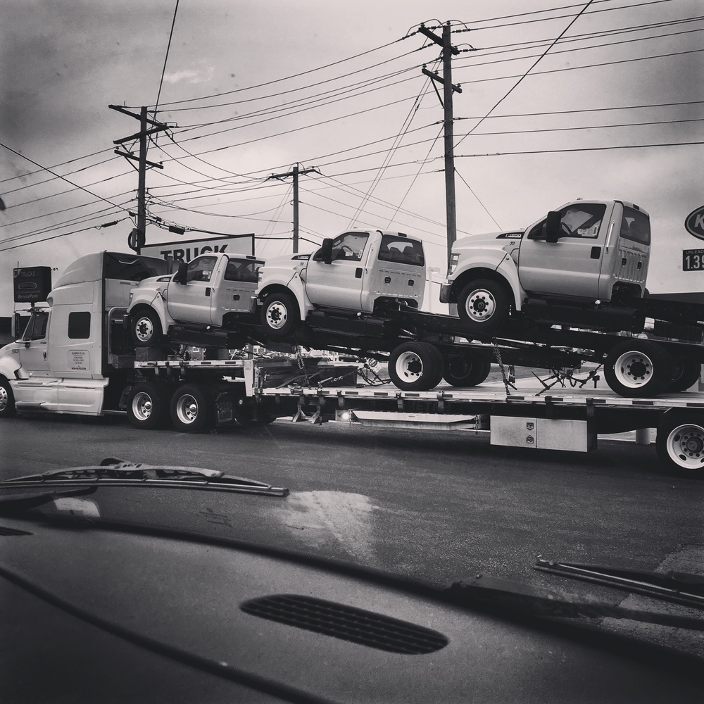 Trucks on top of trucks...