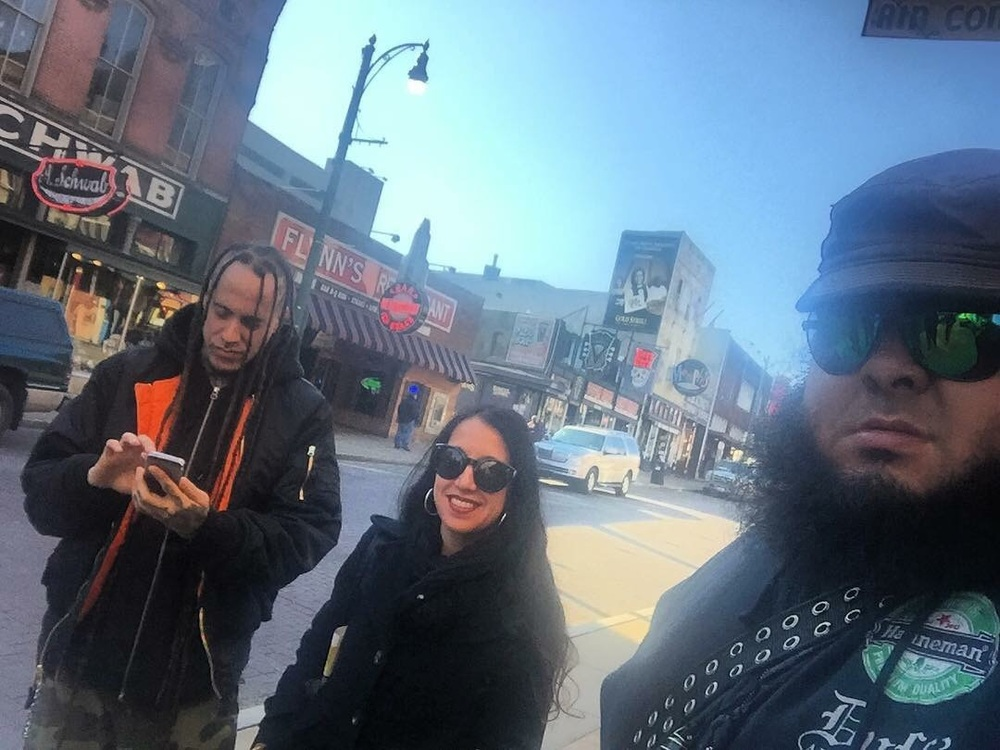 Dave, Annamaria and Max chillin' near Beale street in Memphis  Photo credit: Max Sequeira