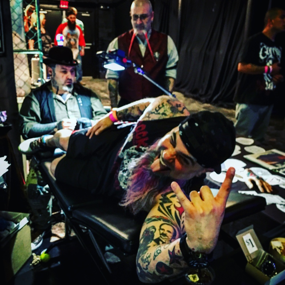 Mr. Rojo is clearly a seasoned pro at this tattoo stuff.