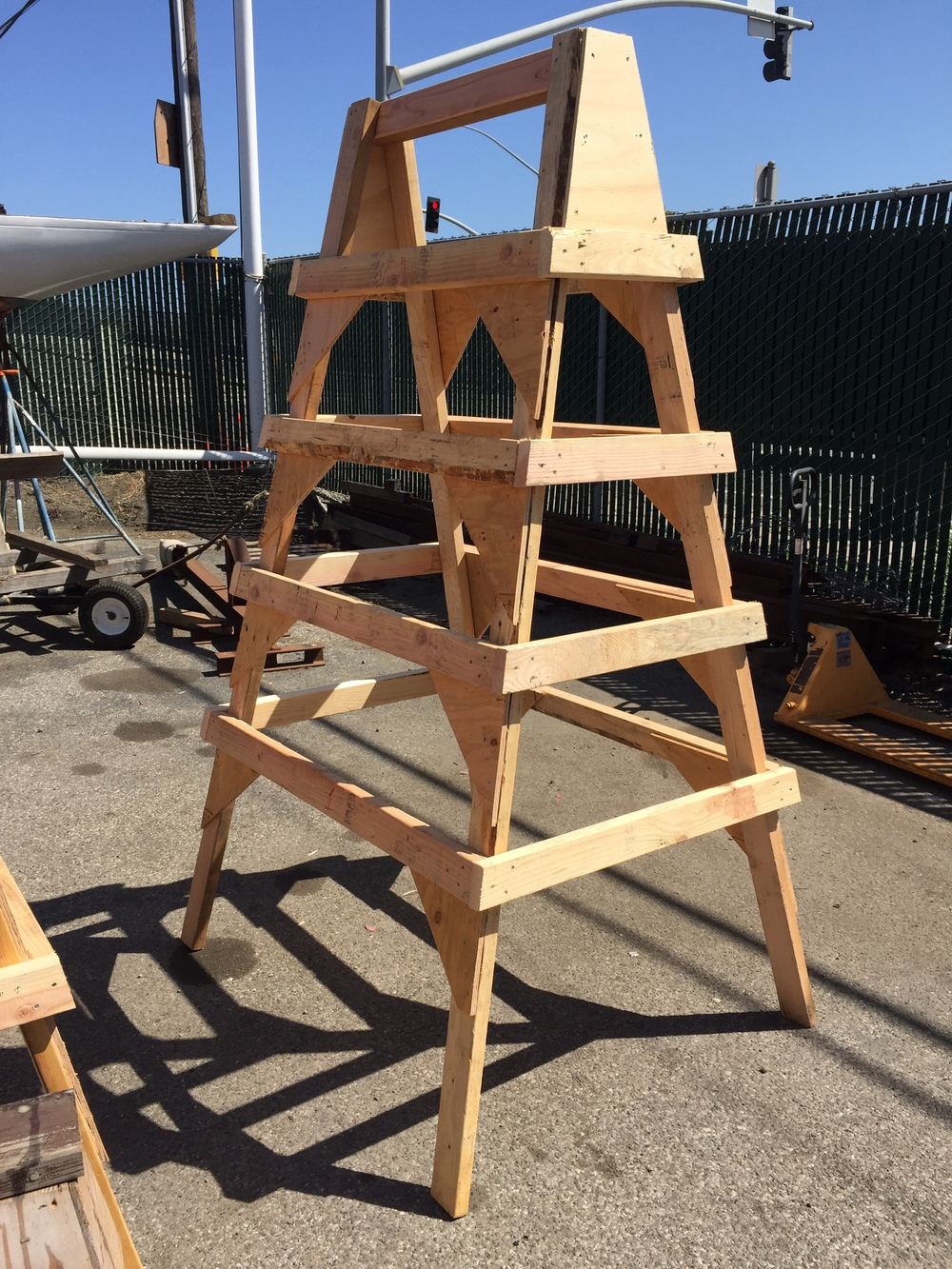 finished A-Frame scaffold