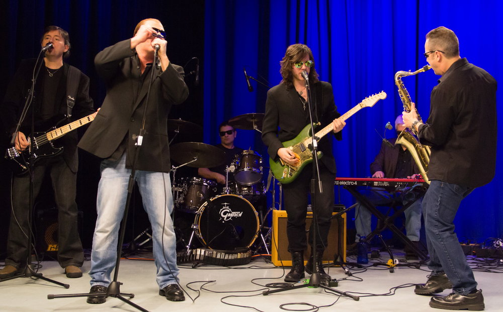 "Johnny P jamimng with Killer Joe & The Late Night Band. aka Killer Joe & The Lido Soul Revue took over the late night band slot for The Tony Traina Orchestra in 2016 due to Tony Traina's extra work load this year. As Joe Franklin used to say ""The Show Must Go On""                                                                                Photo By Cathleen gillingham 2016"