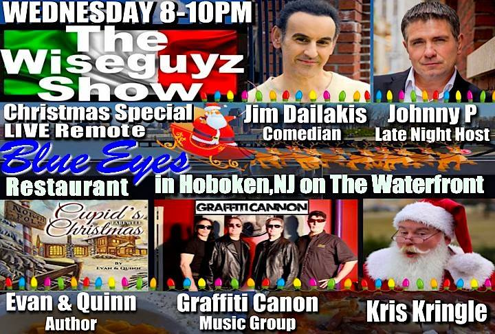 Decemeber 20, 2017 I will be a guest on The Wiseguyz Radio Internet Christmas Show for a live remote @ Blue Eyes Restaurant in Hobken, NJ on the waterfront 8-10pm.  #johnnyp   #thewiseguyzshow  #feddytenore  @johnnypotenzaoffical