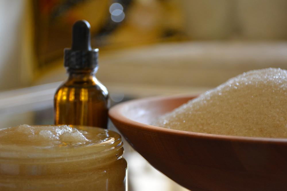 turbinado sugar skin scrub