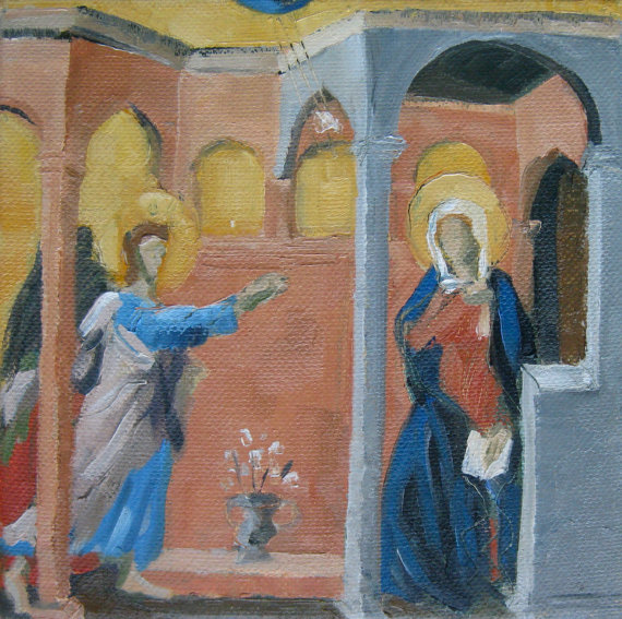 """The Annunciation after Duccio"" by Michelle Arnold Paine"