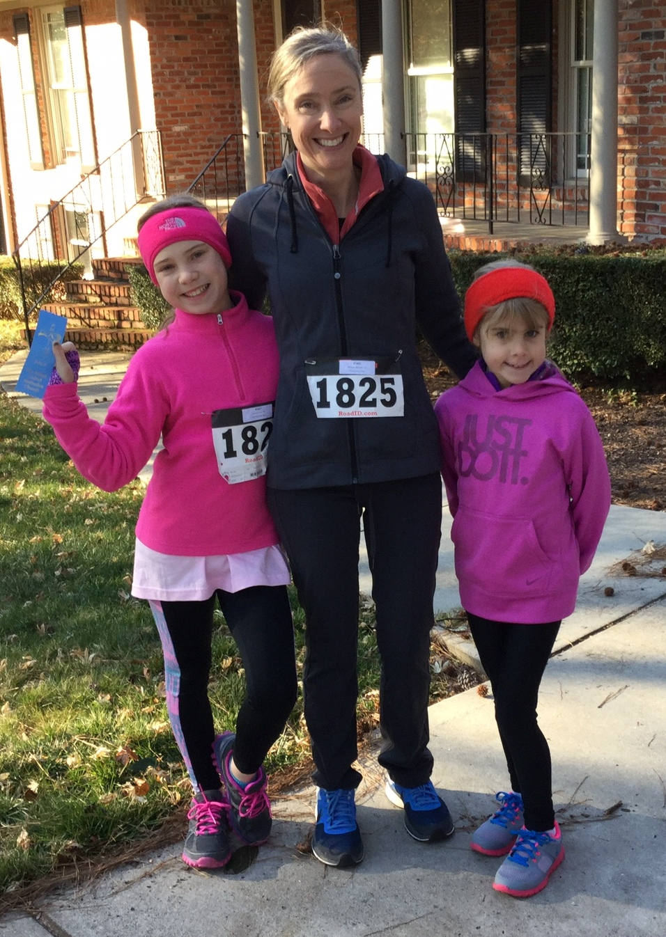Photo taken on 2/14/15 after running a 5k as a family