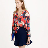 J.Crew silk blouse in graphic peony