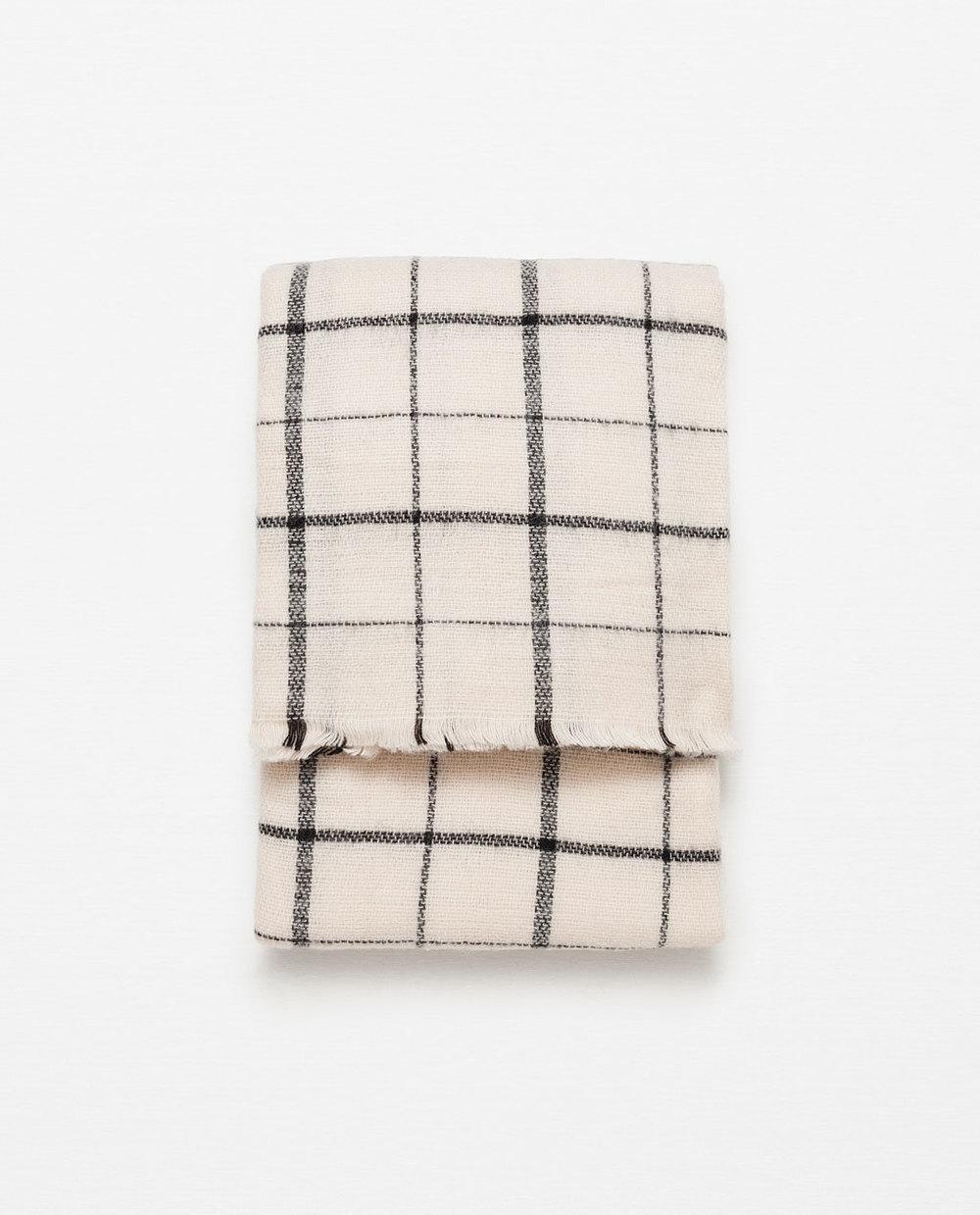 Zara Soft Check Scarf