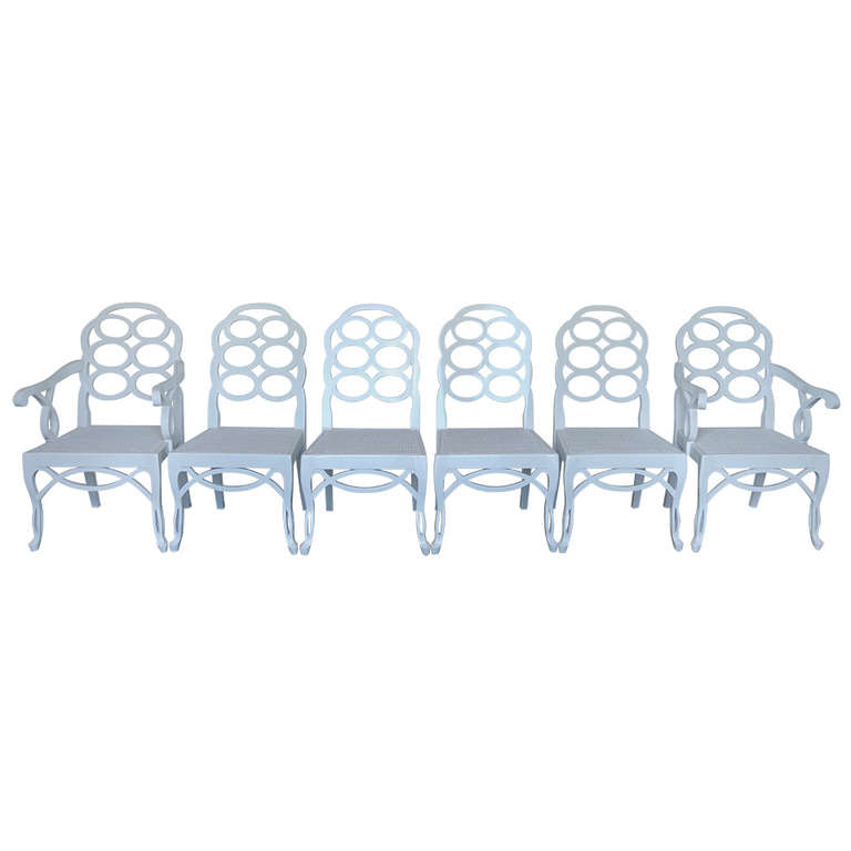 "Frances Elkins   ""Loop"" Chairs, Set of 6 $25,000"