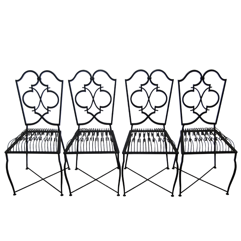 Rene Prou  Dining Chairs, Set of 4 $14,000